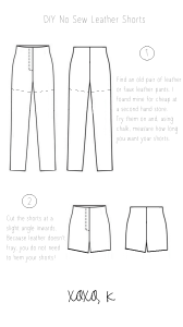 Leather shorts tutorial