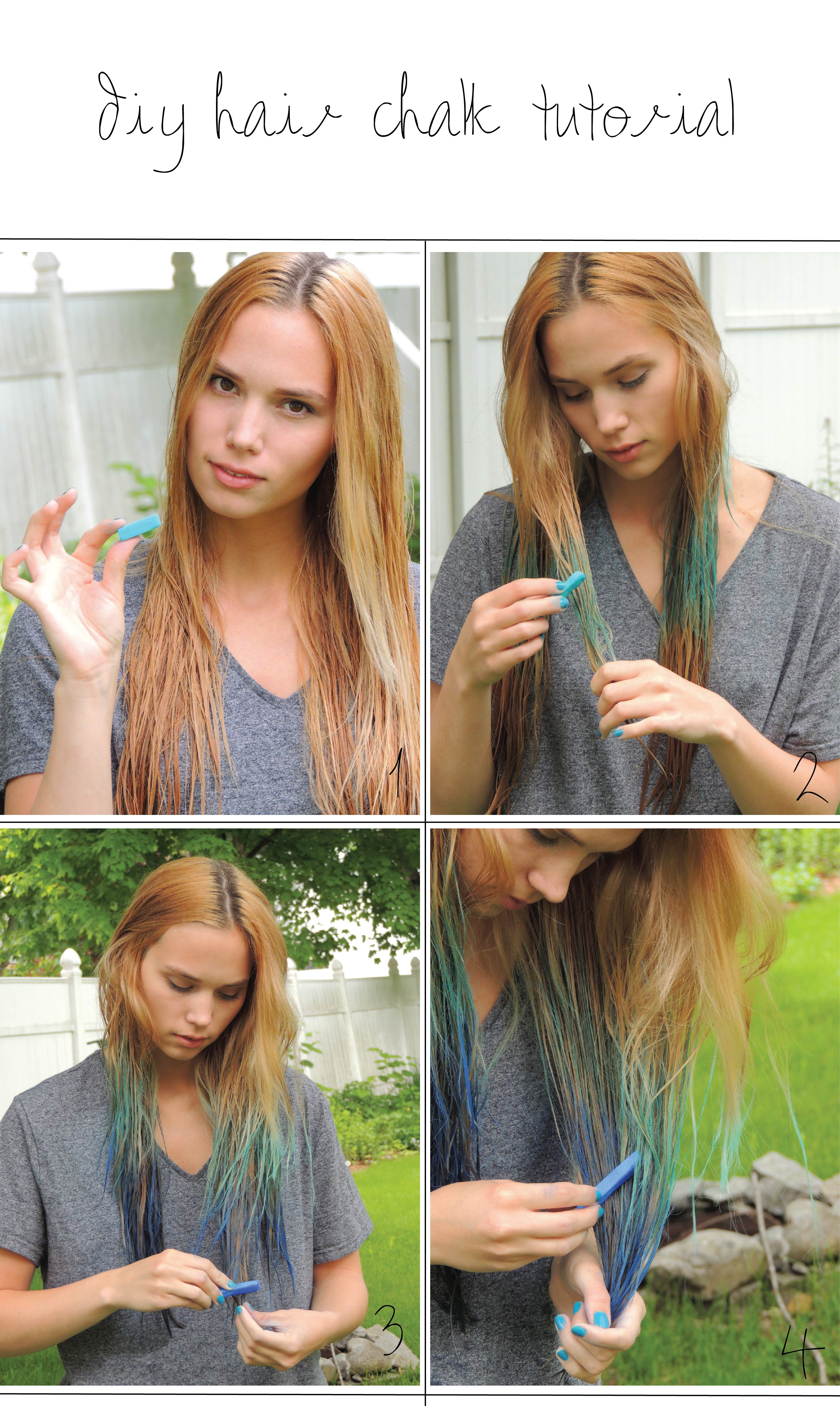 hair chalk tutorial