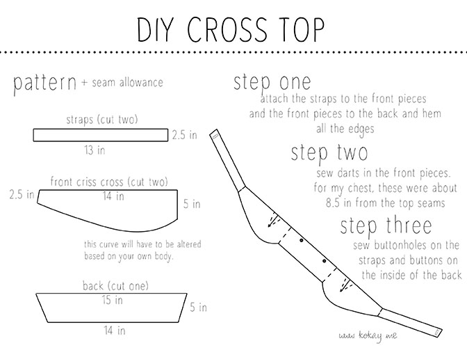 diy crossed top