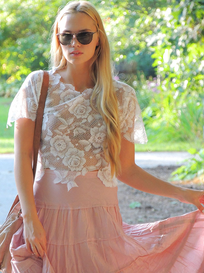 Do it yourself lace crop top