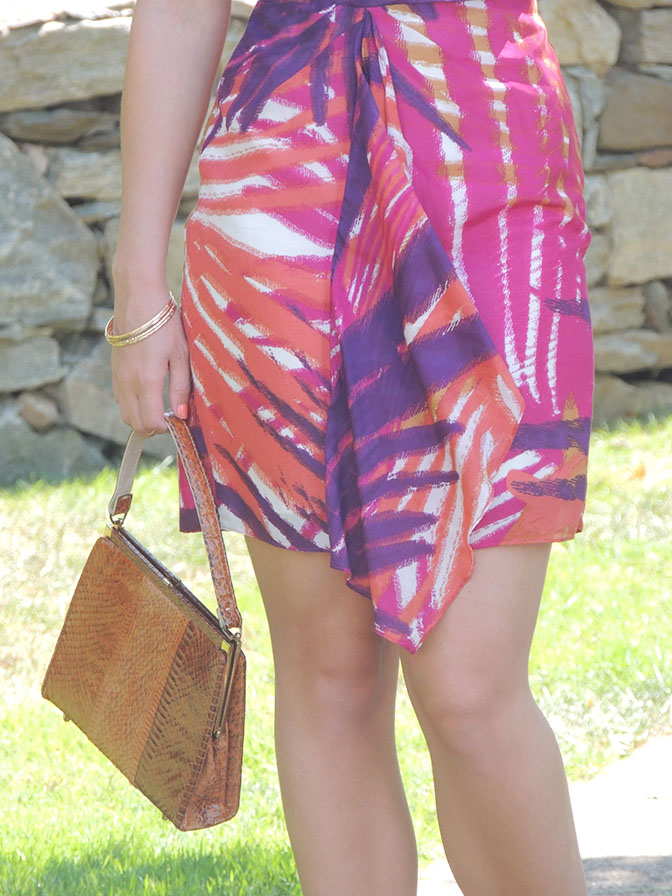 Hot pink tropical dress