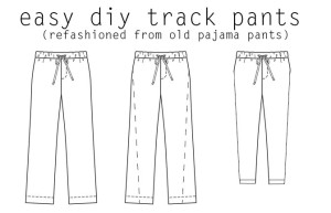 DO it yourself track pants refashion