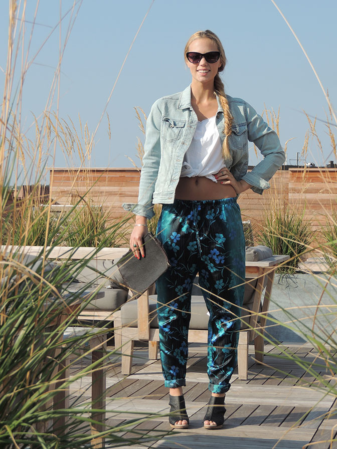 DIY Track Pants refashion from an old pair of pajama pants