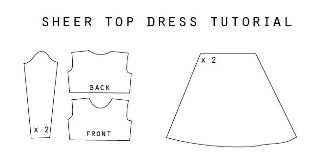 DIY sheer top dress tutorial
