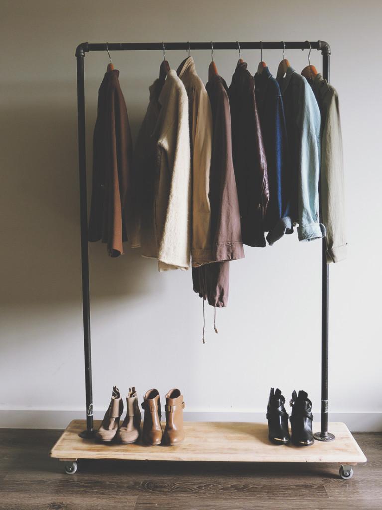 diy garment rack tutorial kirsten zellers a diy style