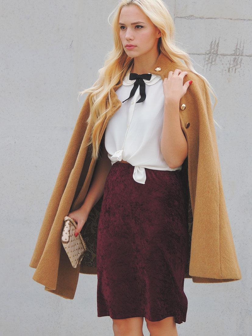 Do it yourself velvet pencil skirt tutorial