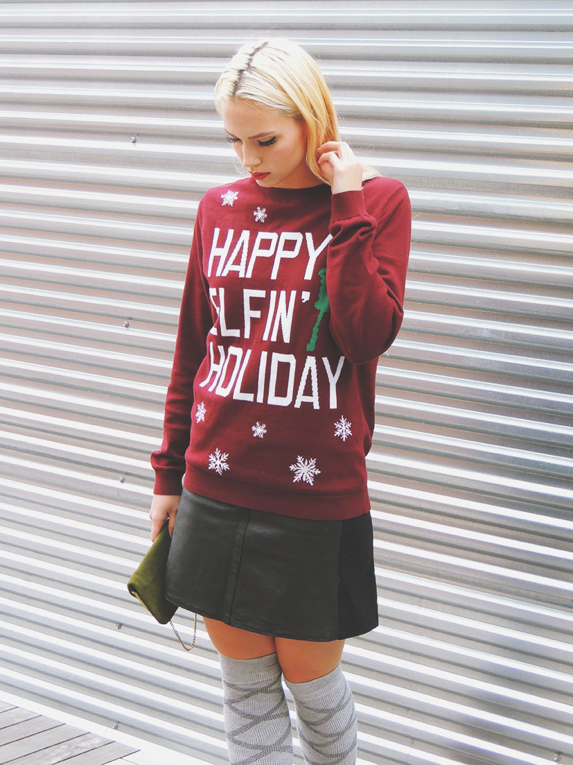 Holiday graphic sweater