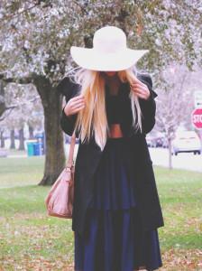 Winter hat and crop top