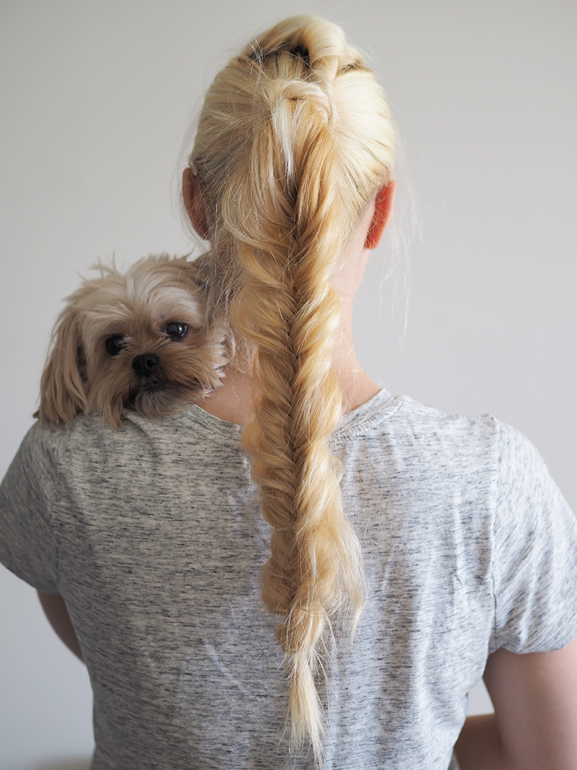 Fauxhawk and Fishtail braid tutorial