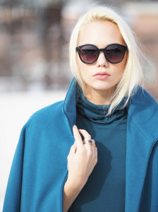 Teal on teal winter outfit