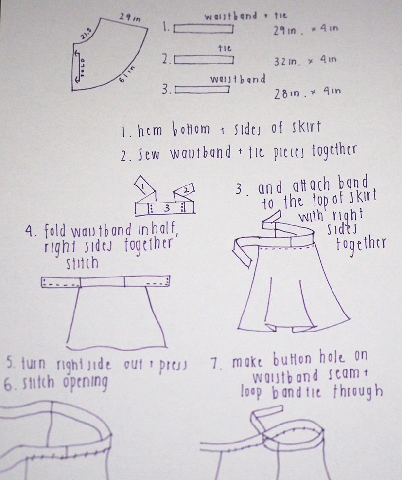 DIY Wrap Skirt Tutorial