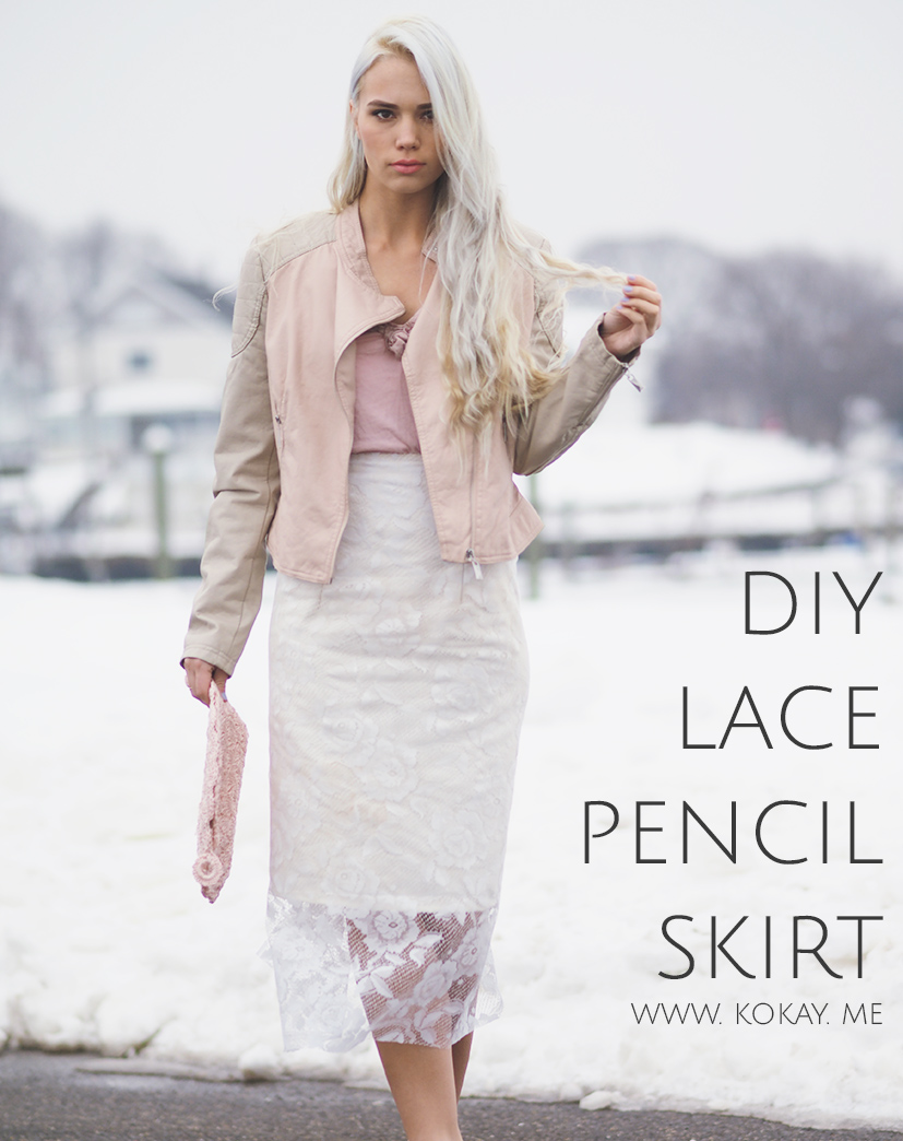 DIY Lace pencil skirt tutorial