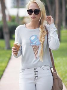 Sweet ice cream sweater