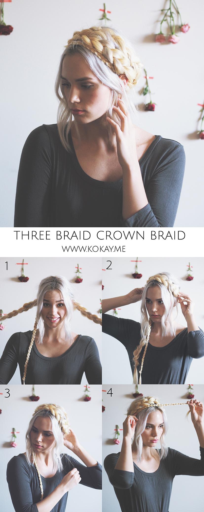 Crown braid tutorial