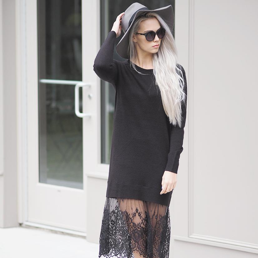 Forever 21 Eyelash lace dress