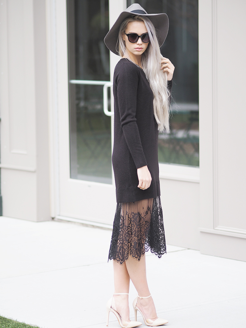 Forever 21 Eyelash lace dress