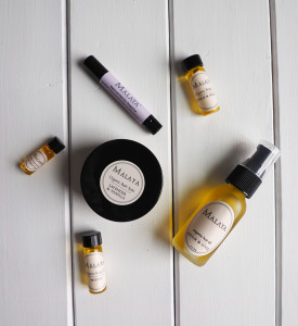 Malaya organics oils and bath salts