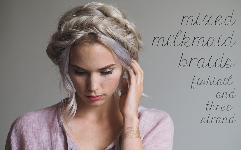 mixed milkmaid braid video tutorial