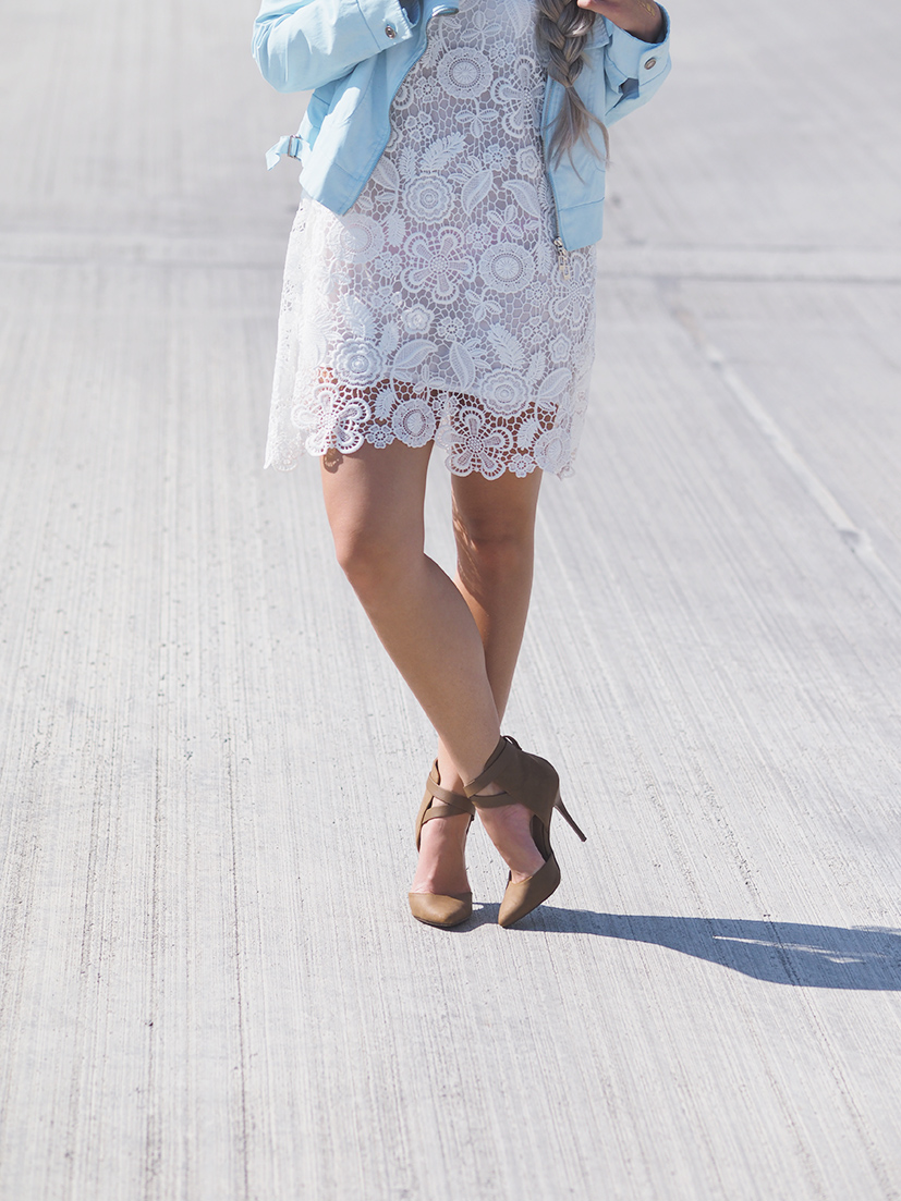 Summery white lace dress