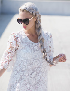 Summery white lace dress