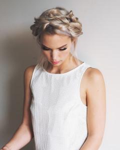 Pull through milkmaid braids tutorial