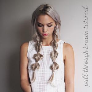 pull through braids tutorial