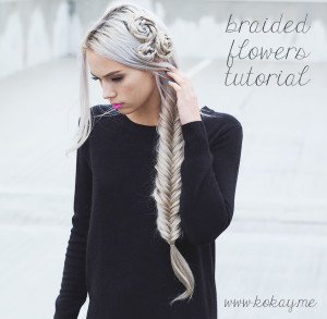 Braided flowers and fishtail tutorial!