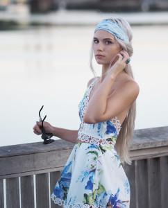 Matching set and headscarf