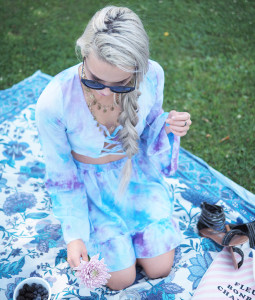 a blue picnic