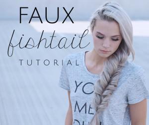 faux fishtail tutorial