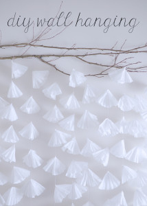 diy coffee filter wall hanging tutorial