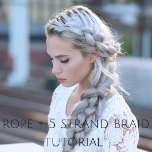 rope braid and five strand braid tutorial