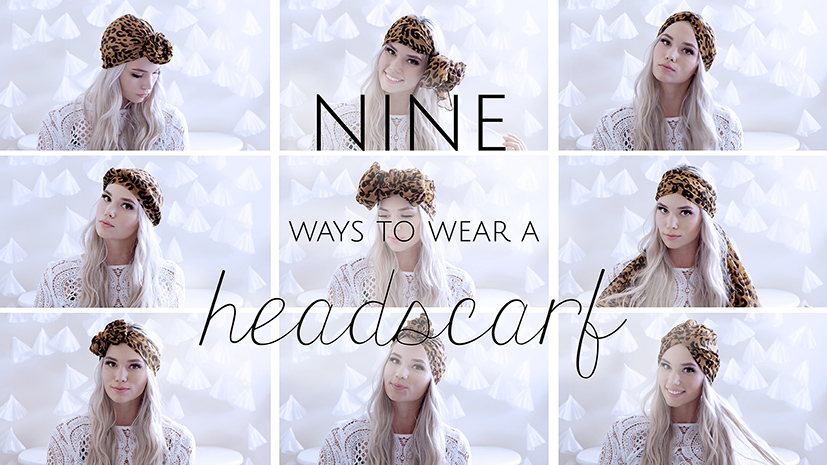 Nine ways to wear a head scarf