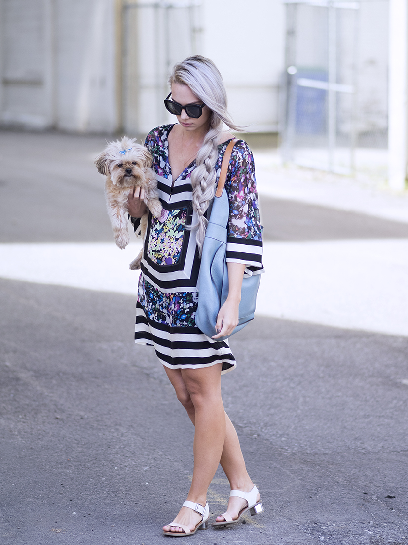 DVF printed dress