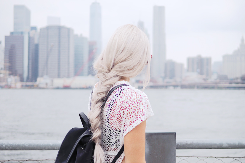 Fishtail and the New York skyline