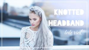 Knotted headband tutorial