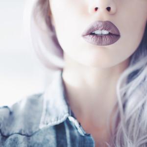 Brown matte lipstick