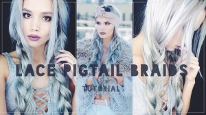 Lace pigtail braids tutorial