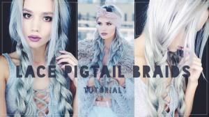 Lace pigtail braids tutorial