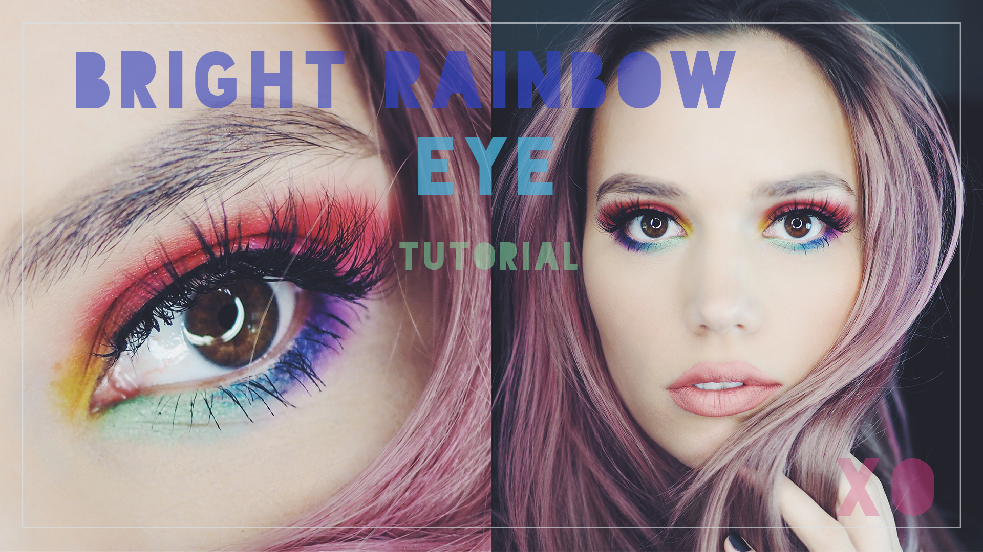 Bright rainbow eyes tutorial