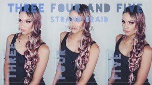Three four and five strand braids tutorial