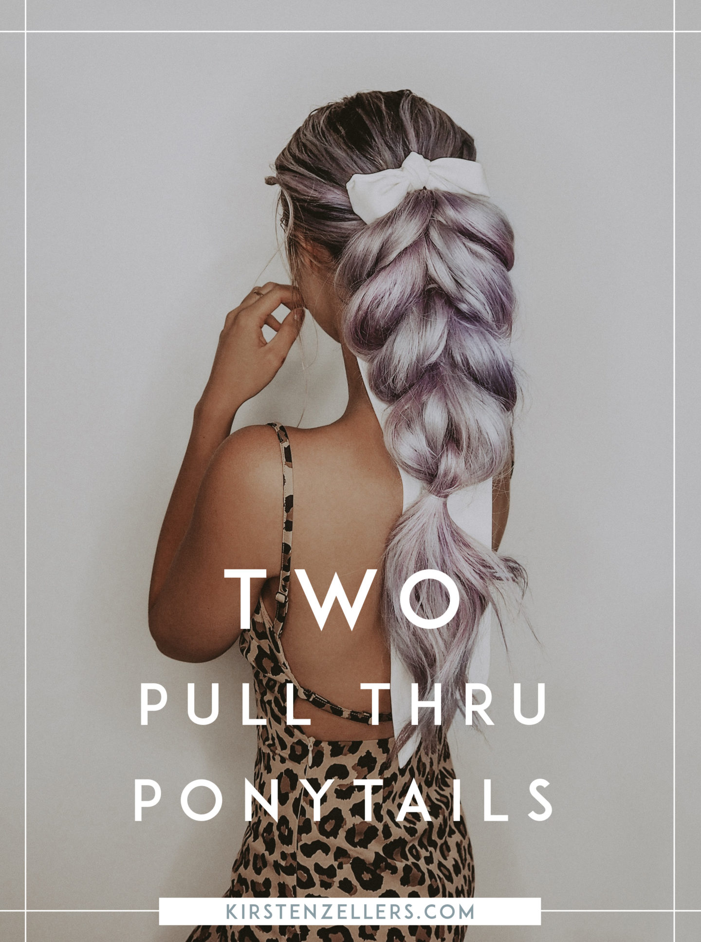 two pull through ponytails