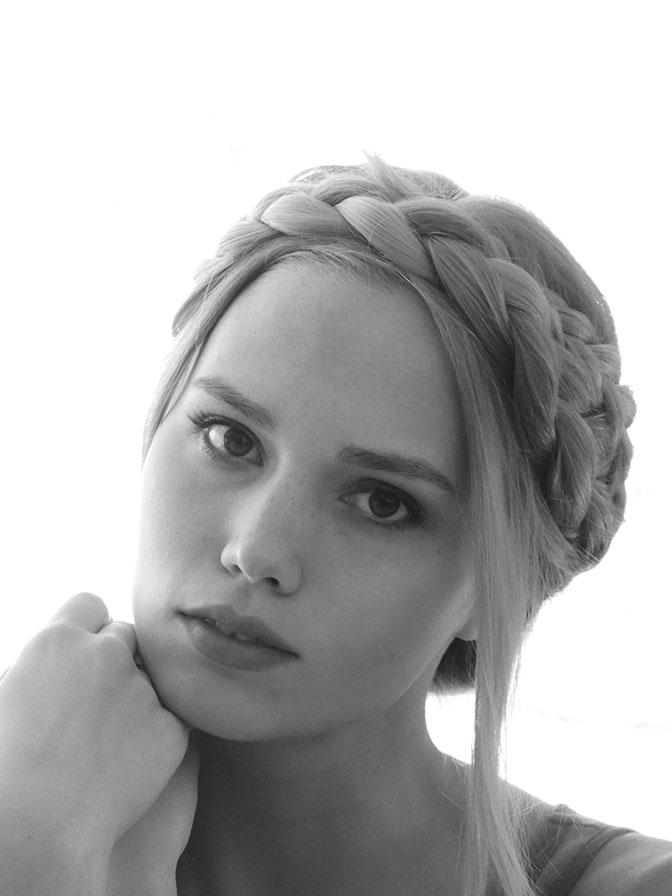 DIY milkmaid braids tutorial
