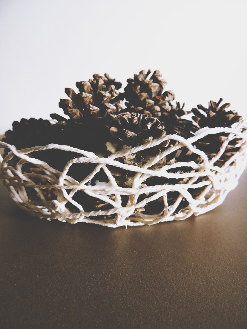 DIY twine bowl tutorial