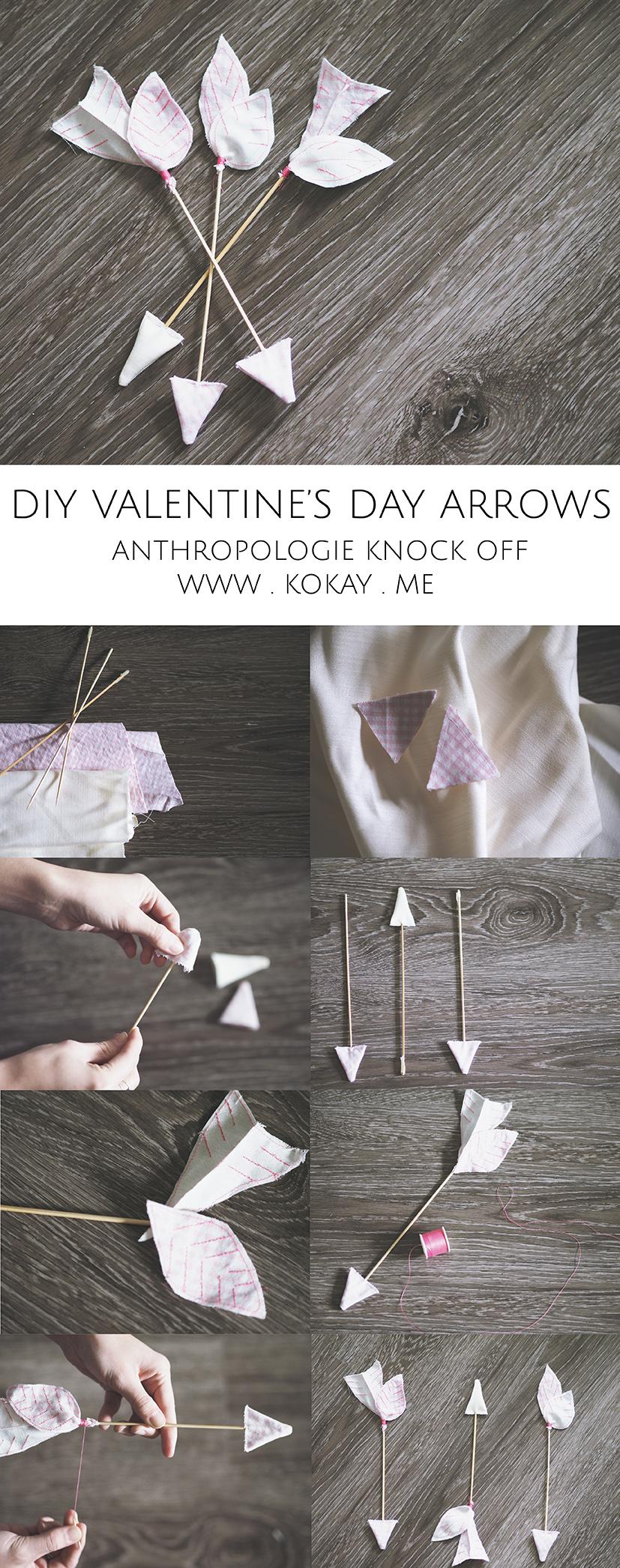 Anthropologie knock off Valentine's day arrows (diy tutorial)