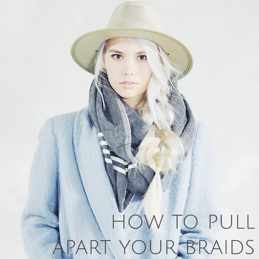 Tutorial on how to pull apart your normal three strand braid
