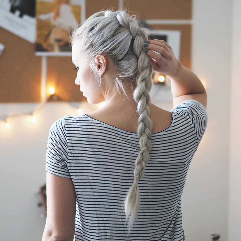 Easy dutch french braid video tutorial