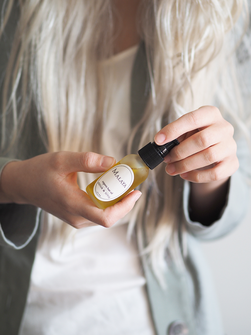 Malaya organics hair oil