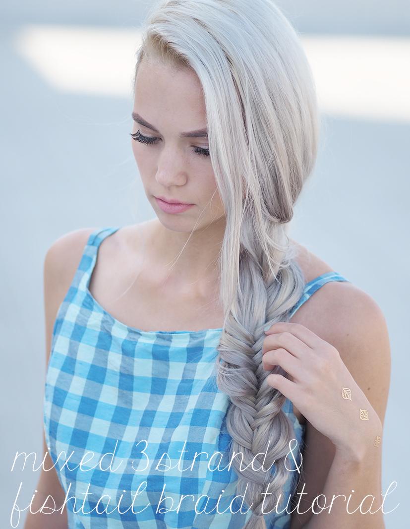 Mixed three strand and fishtail tutorial