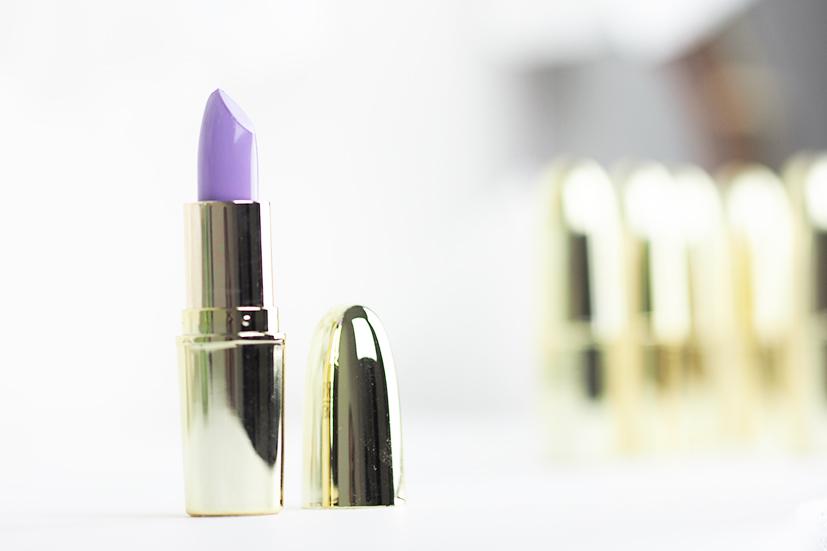Perfect purple lipstick